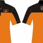 T-Shirt Kerah Sporty hitam orange