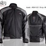 Jaket Motor Touring Biker adn-03-strip-abu