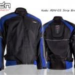 Jaket Motor Touring Biker adn-03-strip-biru