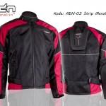 Jaket Motor Touring Biker adn-03-strip-merah
