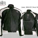 Jaket Motor Touring Biker adn-03-hitam-silver