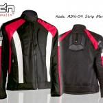 Jaket Motor Touring Biker adn-04-strip-merah