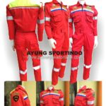 wearpack-kerja-safety-coverall-kementerian-perhubungan-kain-japan-drill-merah