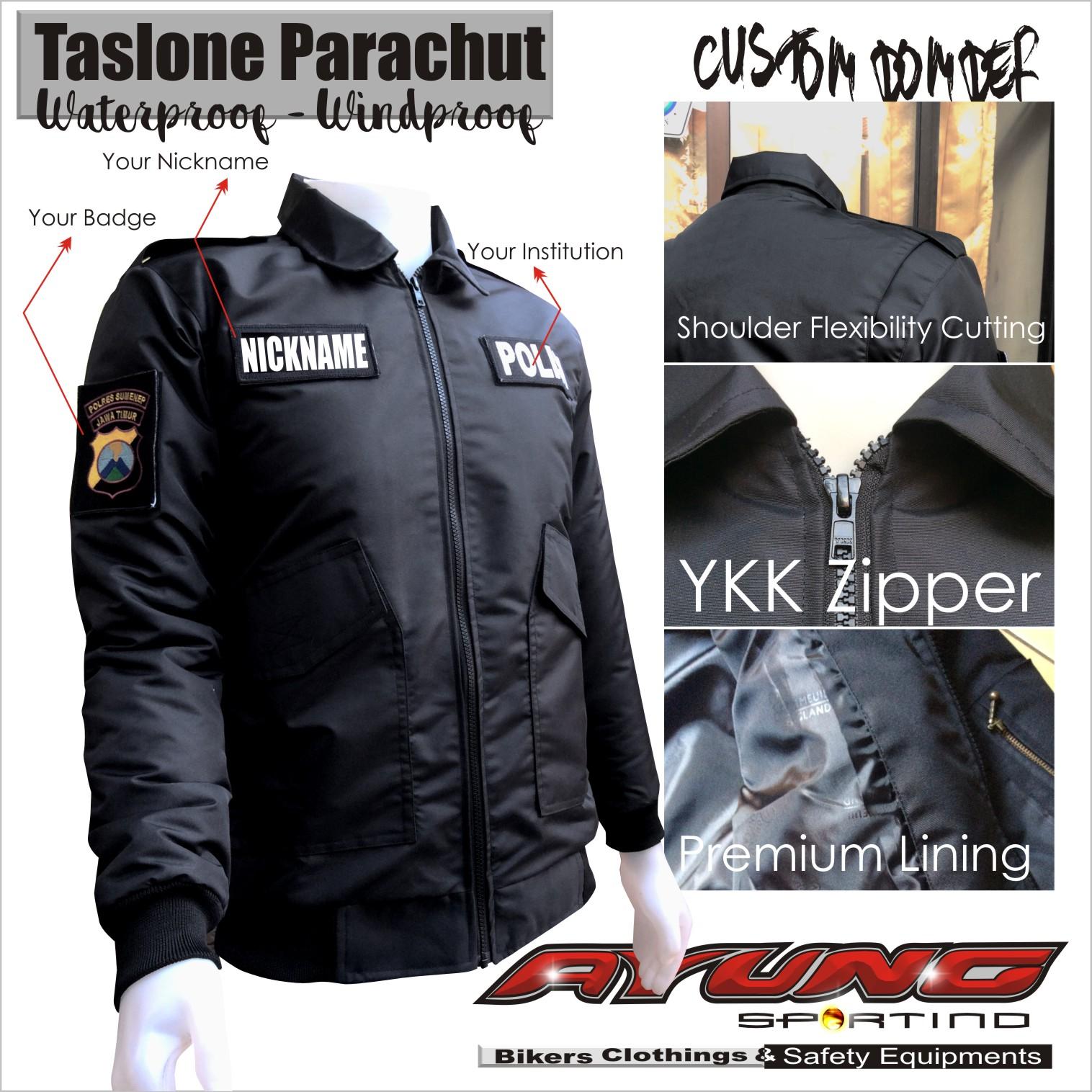 Jaket Pesan Online Jacket Bikin Konveksi Bomber Waterproof Gambar Desain Polisi